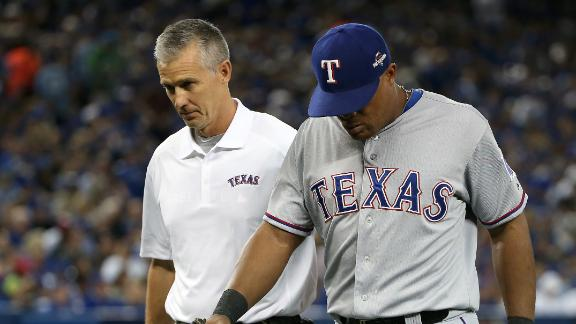 Beltre's playing status for Game 2 unknown