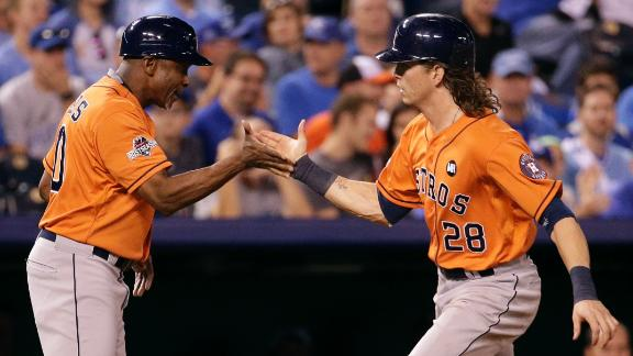 Astros keep rolling, win Game 1 in Kansas City