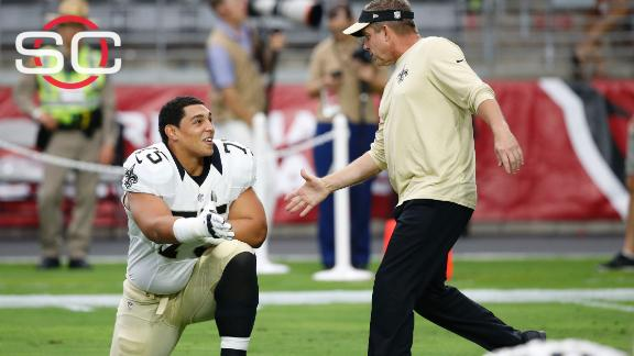 Rookie Peat gets first start on Brees' blind side