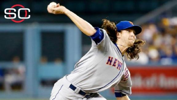 DeGrom (13 K's) leads Mets to Game 1 win in L.A.