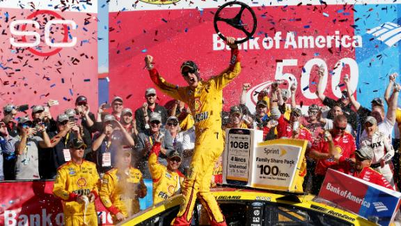 Logano punches ticket to Round 3 with win in Charlotte