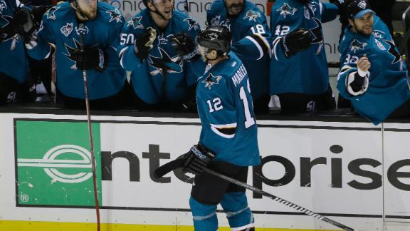 Marleau scores two in Sharks' win