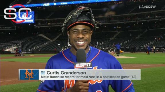 Granderson recaps big night against Dodgers