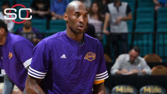 Kobe gets injured in preseason loss to Kings