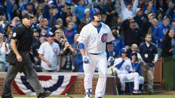 It's scary how high and far Schwarber's home run travels
