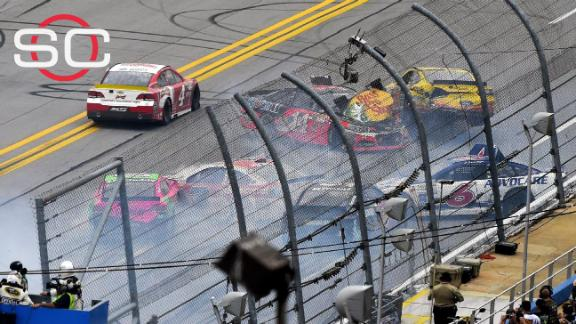 Harvick the center of controversy after wreck