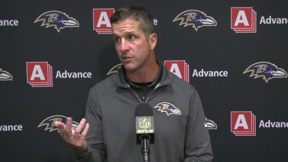 Harbaugh on potential game-tying drive: 'Phones went out'
