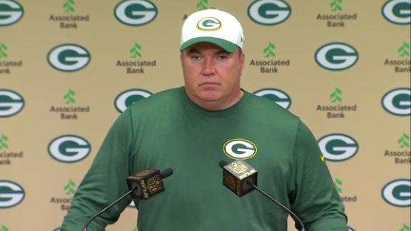 McCarthy wants Green Bay to run more plays