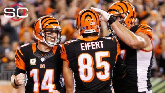 Eifert's 3 TDs lead Bengals past Browns