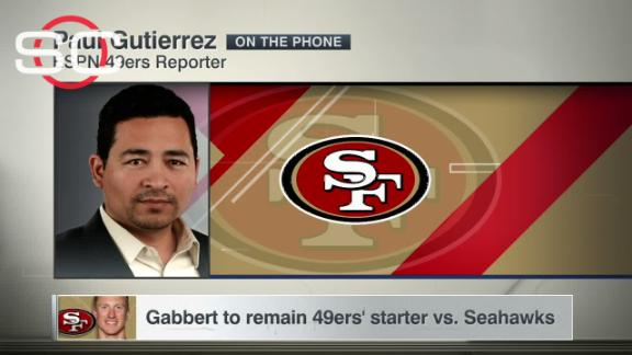 Gabbert to remain 49ers' starter vs. Seahawks
