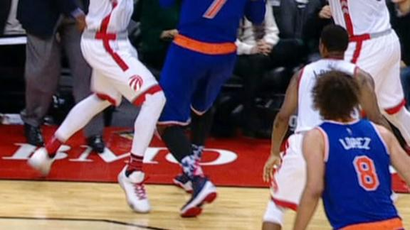 ATH: Unbelievable ref didn't review bad call in Knicks-Raptors game