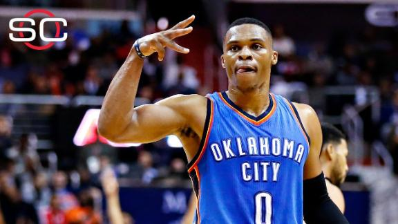 Durant injured, Westbrook records triple-double