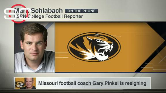 Missouri head coach Gary Pinkel to resign