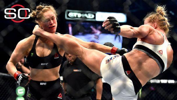 Holm stuns Rousey with knockout