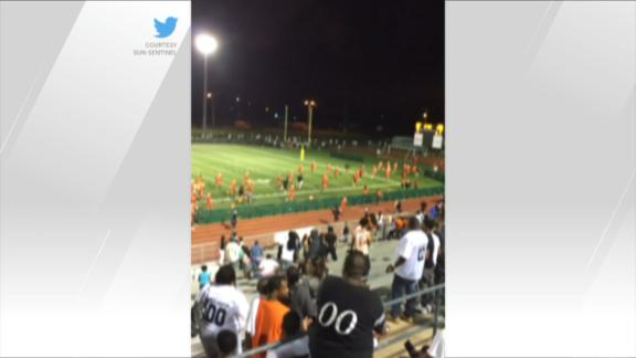 Players run off field during HS football game after hearing nearby gunfire