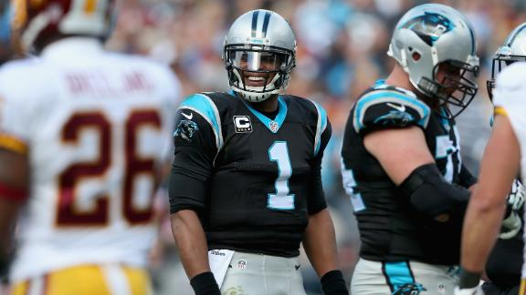 Cam leads Panthers in rout of Redskins