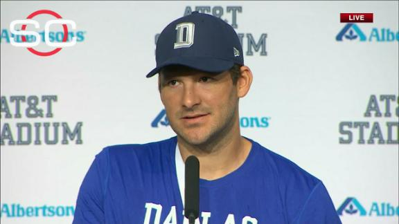 Cowboys QB Tony Romo out for season after injuring collarbone vs. Panthers