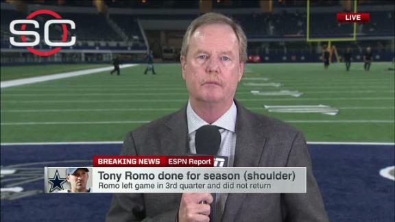 Report: Romo out for remainder of season