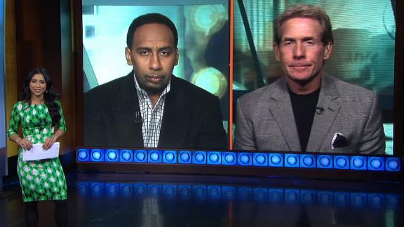 Video - Skip, Stephen A. split on Pats vs. Broncos