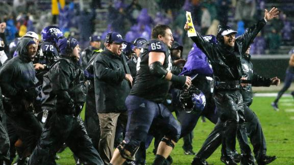 TCU prevails in rain to dash Baylor's playoff hopes
