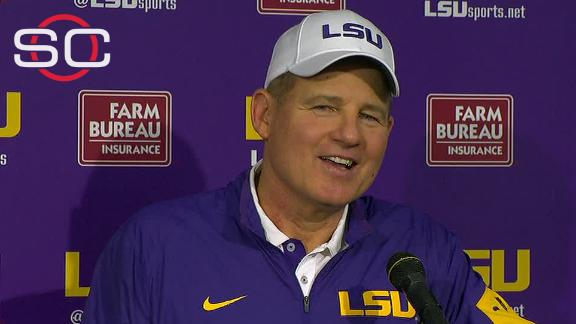 Les Miles on a big day in Baton Rouge