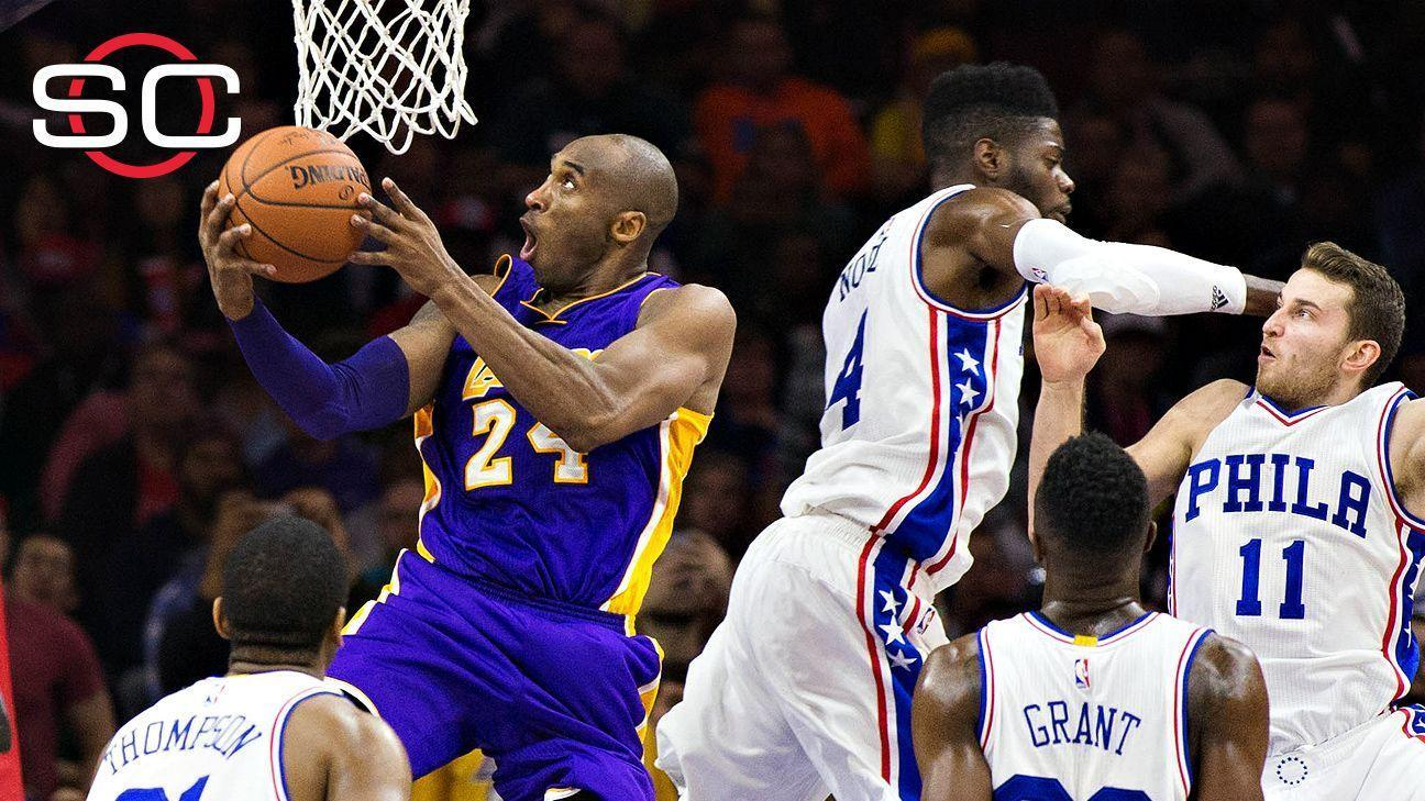 Holmes: Young 76ers starstruck by Kobe in his Philly farewell