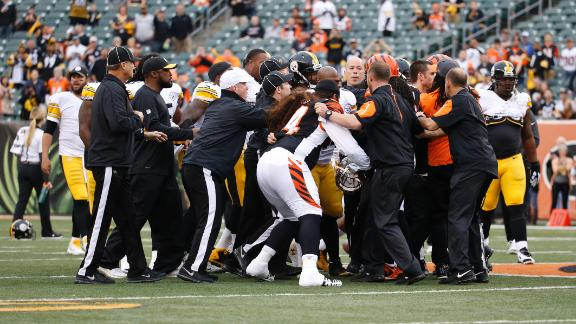 Steelers, Bengals skirmish before kickoff