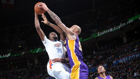 Thunder storm past Lakers