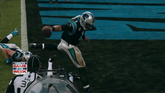 Video - Newton Supermans into end zone