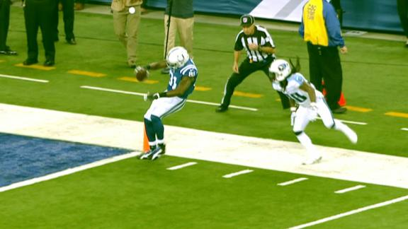 Video - Johnson tip-toes and teeters a TD