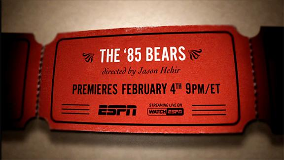 Video - 30 for 30: The '85 Bears - Trailer