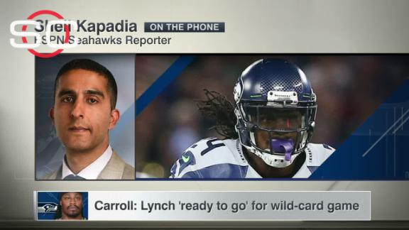 Carroll: Lynch 'ready to go' for wild-card game