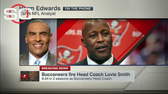 Video - Herm Edwards on Lovie Smith: 'This is a head-scratcher'