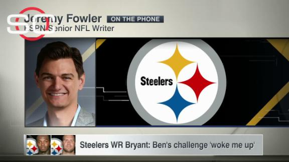 Steelers WR Bryant: Ben's challenge 'woke me up'