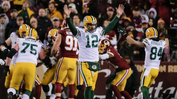 Packers rally to eliminate Redskins