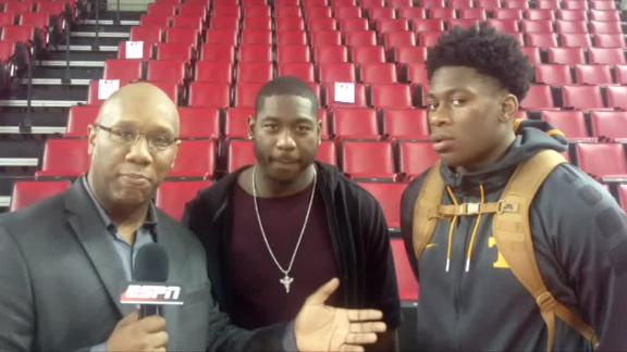 Video - Falcons' O'Brien Schofield focused on little brother's hoop dream...