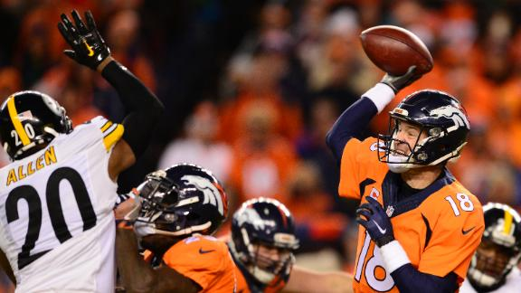 Broncos take late lead, hold off Steelers