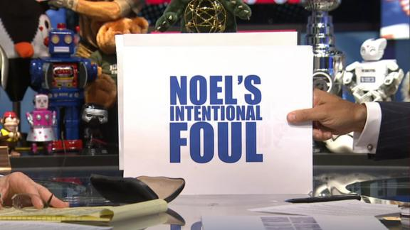 Was Noel's piggyback foul nothing or something?
