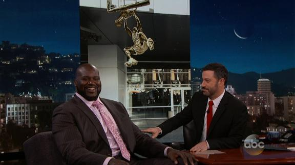Kimmel surprises Shaq with news of Lakers statue