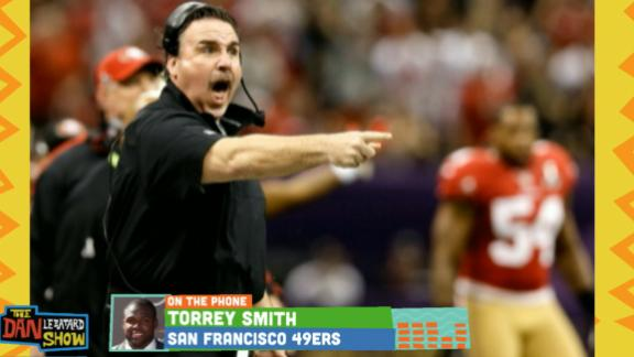 Video - What does Jim Tomsula look like? Torrey Smith decides