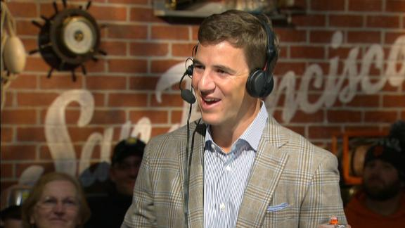 Video - Eli on Peyton: If it's his last, won't be bad to finsih on top
