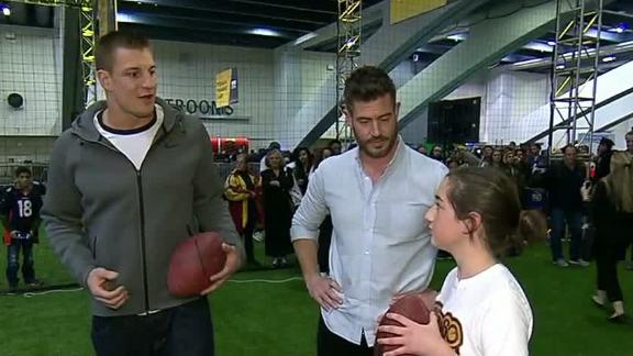 Video - Gronk and Marlo enjoy The NFL Experience