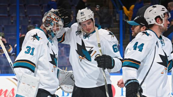 Sharks bounce back with win over Blues