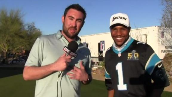 Panthers fan Varner III does some dabbing