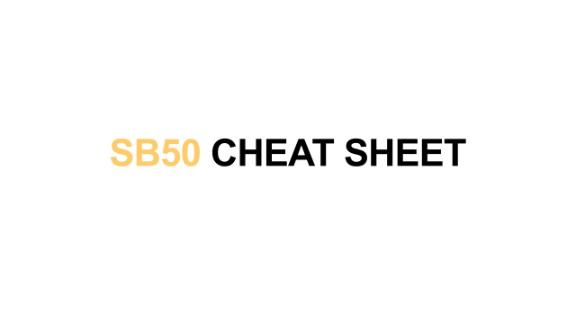 Video - Super Bowl 50 cheat sheet