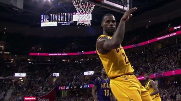 LeBron soars for massive slam