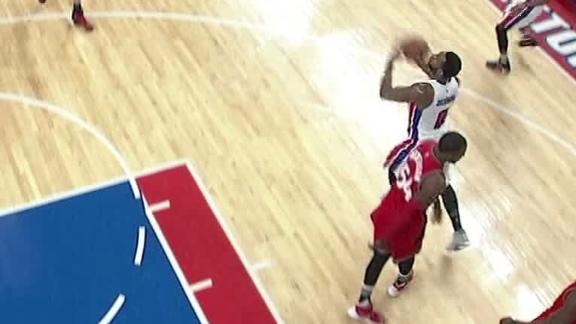 Drummond drills it from 3/4 court