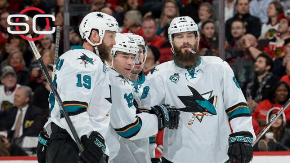 Sharks blank Blackhawks