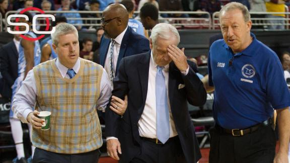Williams collapses, UNC snaps slide