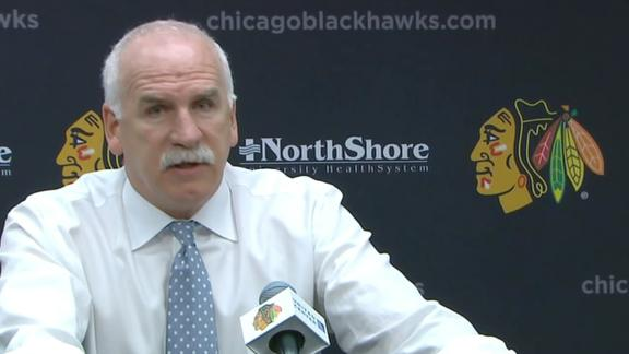 Should Quenneville be facing same critics as Cam for postgame presser?